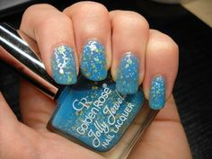 Golden Rose Jolly Jewels 111 in blue #bluepolish #nails #glitterpolish - bellashoot.com