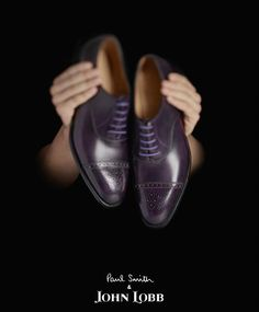 Purple oxfords with died-to-match laces by Paul Smith X John Lobb Hot Shoes, Men's Shoes, Dress Shoes, Purple Shoes, Only Shoes, Bowties, Dressed To Kill, Paul Smith, Dapper
