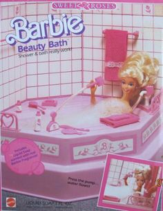 Barbie SWEET ROSES BEAUTY BATH Playset w Working SHOWER & BATH! (1987 Mattel Hawthorne) by Mattel Hawthorne, made in Mexico & USA. $329.99