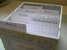 gift card storage box Restaurant Music, Card Storage, Music Gifts, Room Organization, Creative Inspiration, Therapy, Diy Projects, Entertaining, Organize