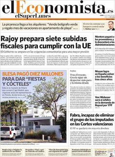 Los Titulares y Portadas de Noticias Destacadas Españolas del 10 de Junio de 2013 del Diario El Economista ¿Que le parecio esta Portada de este Diario Español?