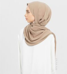INAYAH | Indulge in our non-sheer and non-slip hijabs; perfect for Summer styling; Mocha Soft Touch #Hijab www.inayah.co