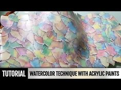 DIY Unique video! How to make Polymer clay Watercolor technique with acrylic paints. Video Tutorial - YouTube