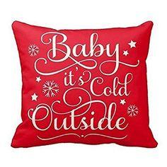 "Ikevan Christmas Pillow Case Fashion Christmas Printing Dyeing Flax Pillowcase Sofa Waist Throw Cushion Pillow Cover Home Decor Red (18"" x 18"")"