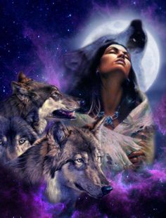Love this. Reminds me of.. well.. my childhood. My house was covered thanks to my mom in Native American and wolf stuff. It's close to me and the moon!!