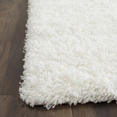 Safavieh Cozy Solid White Shag Rug - Overstock Shopping - Great Deals on Safavieh 7x9 - 10x14 Rugs