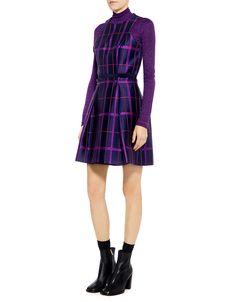 Carven Tartan Jacquard Dress