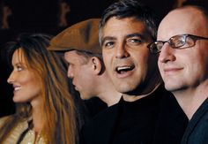 BERLIN, GERMANY - FEBRUARY 8:  (L to R)  Actors Natascha McElhone, Ulrich Tukur,  George Clooney and director Steven Soderbergh attend the 53rd Berlinale Film Festival February 8, 2003 in Berlin,  Germany. Their new film 'Solaris'  was written and directed by Soderbergh.  (Photo by Kurt Vinion/Getty Images) via @AOL_Lifestyle Read more…
