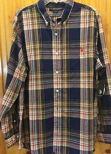 Mens US Polo Association Plaid Shirt L | eBay