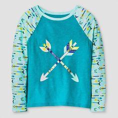 7c0a33f190 Girls  Long Sleeve T-Shirt Cat  amp  Jack - Aqua Freeze M