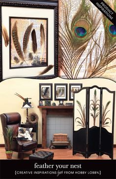 Accent your home with these wonderful DIY feather creations.