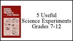 5 Useful Science Experiments Download #homeschool #science #teach