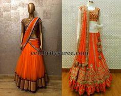 Exclusive Collection of Indian Celebrity Sarees and Designer Blouses Half Saree Designs, Blouse Designs, Indian Fashion, New Fashion, Lehenga, Sarees, Indian Celebrities, Indian Ethnic Wear, Beautiful Saree