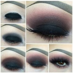 Makeup Looks African American unless How To Do Smokey Eye Makeup Tutorial quite . Make-up si Blue Smokey Eye, Smokey Eyes, Smoky Eye Makeup, Eye Makeup Steps, Simple Eye Makeup, Dark Makeup, Blue Eye Makeup, Makeup For Brown Eyes, Eyeshadow Makeup