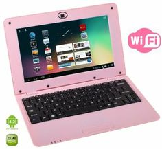 This WolVol mini pink laptop includes the newest upgrade of Android System Hard Drive, Dual Core Processor). The laptop that is in trend these days among teenage girls is a pink laptop. A pink laptop would flatter your personality in a better way. Birthday Presents For Girls, Christmas Gifts For Girls, Best Gifts For Girls, Christmas Birthday, Christmas Ideas, 10 Year Old Girl, 12 Year Old, Pink Laptop, Toys For Girls