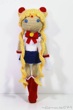 Champion of Love and Justice: Sailor Moon - CROCHET. No pattern, but this is amazing!!