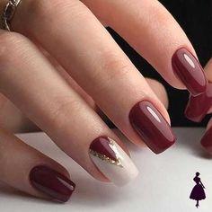 8 diseños de uñas color burdeo que te van a encantar