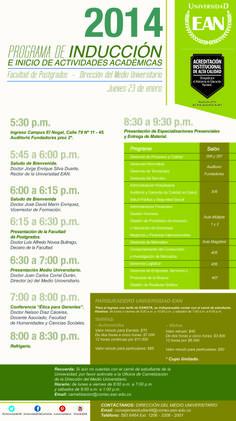 Bienvenido a tu #especialización presencial. Programación 1er día de actividades académicas.