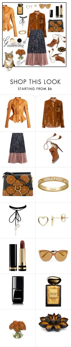 """""""Good morning 🍂"""" by waltos ❤ liked on Polyvore featuring Loewe, LULUS, LUISA CERANO, Markus Lupfer, Aquazzura, Chloé, WithChic, Estella Bartlett, Gucci and Dolce&Gabbana"""