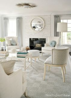 This is your space - white painted brick, creamy tones and white on white.