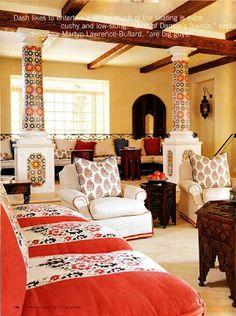 moroccan decor, wood beams