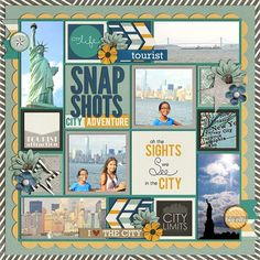 LOVE THIS LAYOUT!! CREDITS: Everyday Life: Urban Dreams Bundle by Megan Turnidge and Tickled Pink Studio Cindy's Layered Templ...