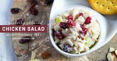 Cranberry Almond Chicken Salad Recipe (Gluten-free with Dairy-free Option)