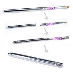 Hideaway Acrylic Nail Art Painting Draw Pen Brush UV Gel Powder Brushes Pens Sable Acrylic Nail Painting Brush Builder UV Gel