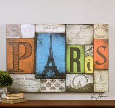 This Wall Art is part of the All Things Paris Collection and has a Wood Finish.  : 9LX7X | Annapolis Lighting