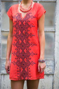 gilt   gossamer - Embroidery Short Sleeve Dress, $42.00 (http://www.giltandgossamer.com/embroidery-short-sleeve-dress/)