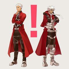 Fate Archer, Archer Emiya, Amakusa, Shirou Emiya, Fate Characters, Nasu, Anime Family, Fate Zero, Fantasy Warrior