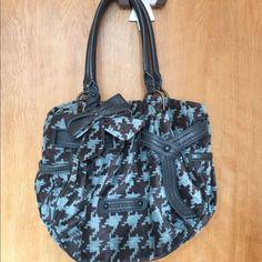 Final Pricejuicy Couture Blue&Brown Velvet Handbag