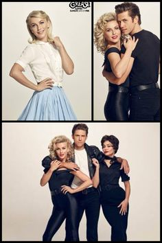Julianne Hough, Aaron Tveit, and Vanessa Hudgens for Grease Live