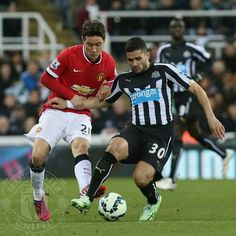 Ander Herrera in action against Newcastle United.