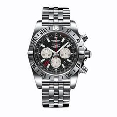 6c698ff4453 Breitling Men s AB0413B9-BD17  Chronomat GMT  Chronograph Automatic  Stainless Steel Watch Breitling