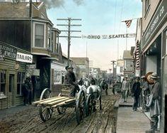 The gold rush town of Dawson City, Yukon Territory 1903