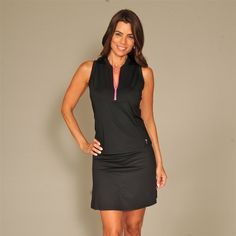 Here's an idea: pair the Golftini racerback top and Bora Bora Tech Skort to give the illusion of a sleek, slimming, and smart golf dress. The fabric is great for traveling. #golf4her #gootd #s17