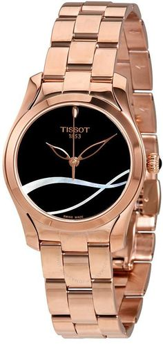 e7cbf1ab6ad Tissot T-Wave Black with Mother of Pearl Dial Ladies Watch