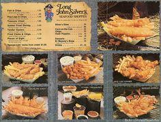 1970 food menu | ... menu 1970s here s the rest of the long john silver s menu we get to