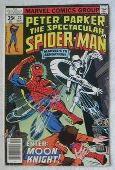 The Spectacular Spider-Man #22 (Sep 1978, Marvel) Moon Knight app VF/NM 9.0