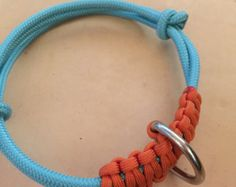 NEW! ROPE Collar-Paracord and Heavy Duty Halter Cord Adjustable Rope Dog Collar
