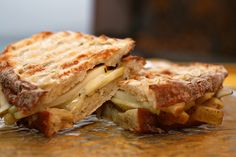 pear & gruyere panini