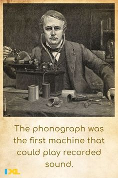 Thomas Edison completed the first phonograph #OnThisDay in 1877! #TBT American Symbols, American History, Ancient Greece, Ancient Egypt, Number Grid, Countries Of Asia, Primary And Secondary Sources, Branches Of Government, Major Holidays