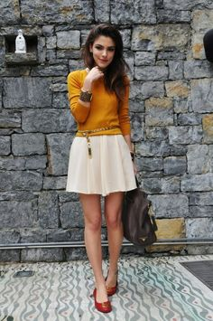 sweater over dress outfit