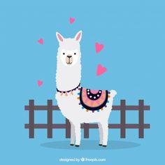 Cute alpaca background with cactus Vector Alpacas, Cute Alpaca, Llama Alpaca, Design Plat, Flat Design, Cactus Vector, Funny Llama, Kids Canvas, Pet Rocks