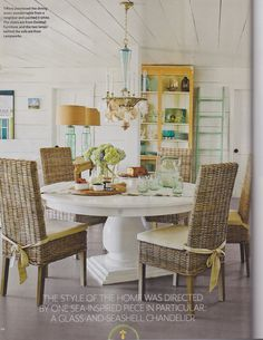 from Coastal Living, May 2013 (*table/chairs on a porch)
