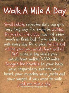 Helth Fitness motivation inspiration workout exercise lifting weights weightlifting keep it clean! Fitness Before After, Walking For Health, Walking Exercise, Walking Workouts, Health Facts, Health And Nutrition, Health Diet, Healthy Tips, How To Stay Healthy