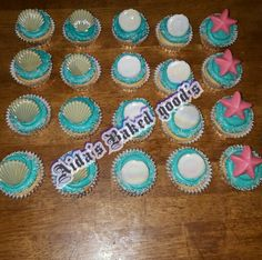 Under the sea cupcakes.