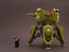 Walking Pillbox - 01 by Legohaulic, via Flickr