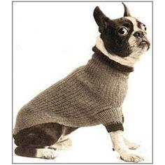 Boston Terrier Size Dog Blanket Turtleneck Sweater Coat Knitting PDF
